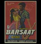 Bollywood POSTER; Barsaat (Yr - 1949)