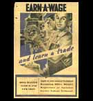 Propaganda Poster, India, WW-II; Earn - A - Wage