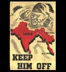Propaganda Poster, India, WW-II; Anti Japanese Invasion Message